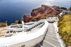 Panorama view of Santorini caldera, Aegean Sea, Greece Royalty Free Stock Images