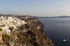 Panorama view of Santorini caldera, Greece Royalty Free Stock Photography
