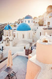 Panorama view of Santorini caldera, Greece Stock Photography