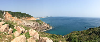 Panorama view of the sea in Ninh Hoa, Vietnam Stock Images