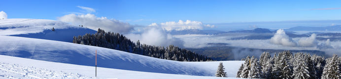 Panorama View from Semnoz mountain royalty free stock photo