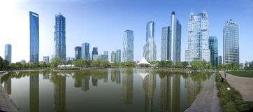 Panorama view of Shanghai business area Royalty Free Stock Photography
