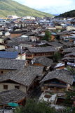 Panorama view of Shangri-La town Royalty Free Stock Photography