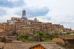 Panorama view of Siena in Tuscany, Italy. Royalty Free Stock Photo