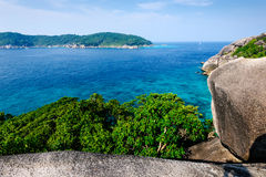 Panorama view of Similan islands, Andaman Sea Royalty Free Stock Photography