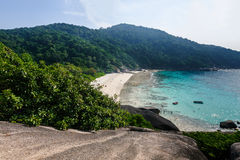 Panorama view of Similan islands, Andaman Sea Royalty Free Stock Image