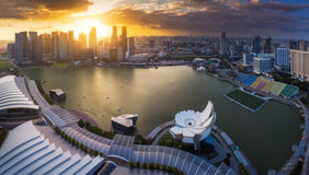 Panorama view of Singapore city Royalty Free Stock Photography