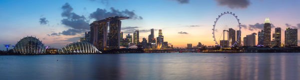 Panorama view of Singapore city Stock Images