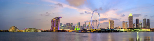 Singapore cityscape panorama Royalty Free Stock Photos