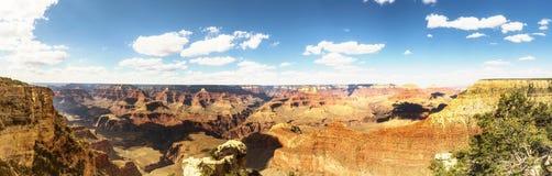 Panorama: view of the Skeleton, Mathew Point and Pipe Creek - Grand Canyon South Rim - Arizona, AZ Stock Photos