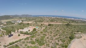 Panorama View of Son Servera & Cala Millor - Aerial Flight, Mallorca stock video