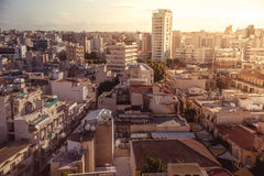 Panorama view of southern part of Nicosia, Cyprus. Panorama view of southern part of Nicosia, capital and largest city on the island of Cyprus Stock Photo