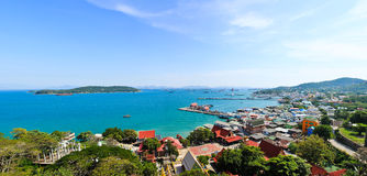 Panorama view of  Srichang Island Royalty Free Stock Images