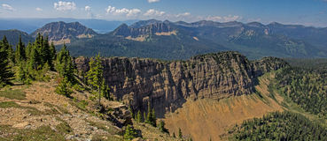 Panorama View From Stahl Peak Royalty Free Stock Photo