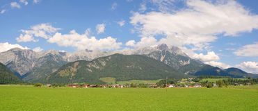 Panorama view Steinerenes Meer Saalfelden Leogang Austria Royalty Free Stock Photography