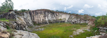 Panorama view of a stone quarry in countryside Stock Image