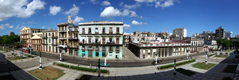 Panorama view of street. In Havana Royalty Free Stock Photography