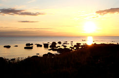 Panorama view of sunset Royalty Free Stock Photos