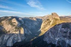 Panorama view at sunset in Yosemite Stock Photos
