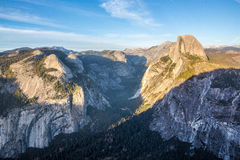 Panorama view at sunset in Yosemite Royalty Free Stock Photography
