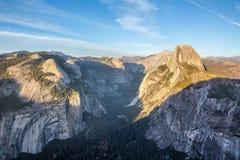 Panorama view at sunset in Yosemite Stock Photo