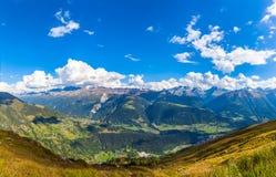 Panorama view of Swiss Alps Royalty Free Stock Photos