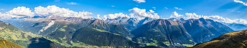 Panorama view of Swiss Alps Stock Photography