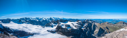 Panorama view of Swiss Alps Royalty Free Stock Photography