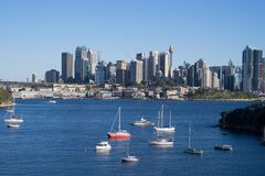 Panorama View of Sydney city Harbour view from waverton point wi stock photos