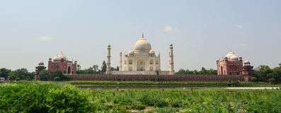 Panorama view of Taj Mahal in Agra, India Stock Images