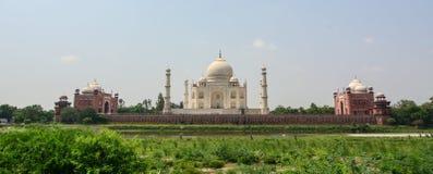 Panorama view of Taj Mahal in Agra, India Stock Images