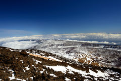Panorama view from Teide mountain Royalty Free Stock Photos