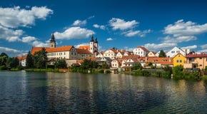 Panorama view of Telc city, Czech Republic Royalty Free Stock Photos
