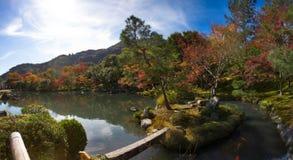 Panorama view of Tenryu-ji garden Royalty Free Stock Images