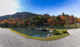 Panorama view of Tenryu-ji garden Stock Images