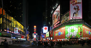 Panorama view of Times Square. The panorama view of Times Square in New York City stock images