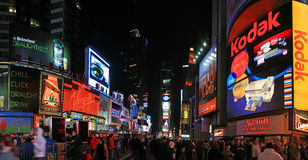 Panorama view of Times Square stock image