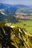 Panorama view to alps in Bavaria Royalty Free Stock Image