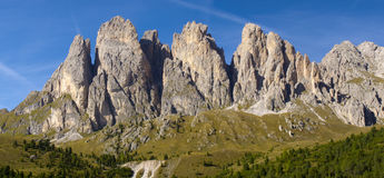 Panorama view to alps dolomites Stock Image