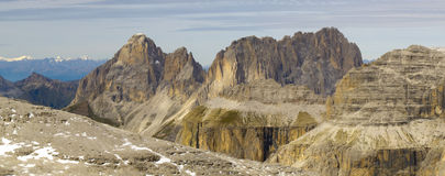 Panorama view to alps dolomites Stock Photography