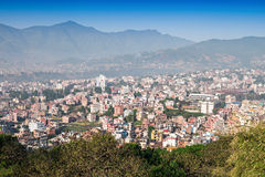 Panorama view to Kathmandu city Stock Photography