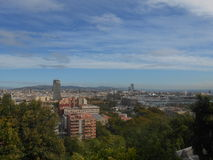 Panorama view to port in Barcelona Royalty Free Stock Images