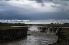 Panorama view to Selfoss waterfall, Iceland Stock Image