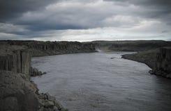 Panorama view to Selfoss waterfall, Iceland Stock Photo