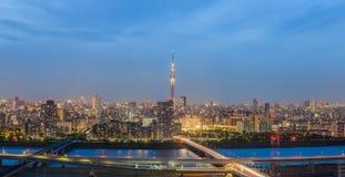 panorama view of Tokyo city Stock Image