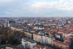 Panorama view of Torino city Stock Photos