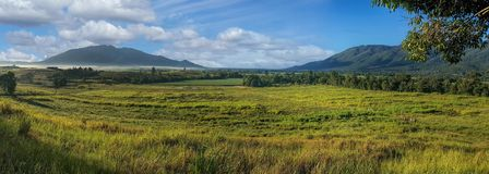 Panorama of view towards Tully Australia Stock Images