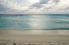 Panorama view of the turquoise Caribbean sea Stock Photos
