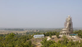 Panorama view of a under construction buddha statue Royalty Free Stock Photography