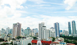 Panorama view of  urban bangkok city Stock Photography